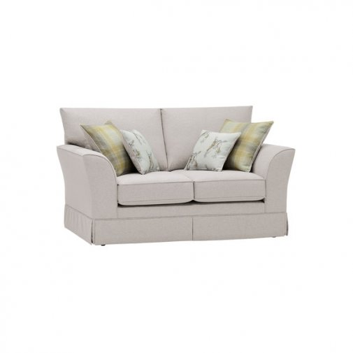 Liberty 2 Seater Sofa - Hawkshead Cream Fabric with Yellow Scatters