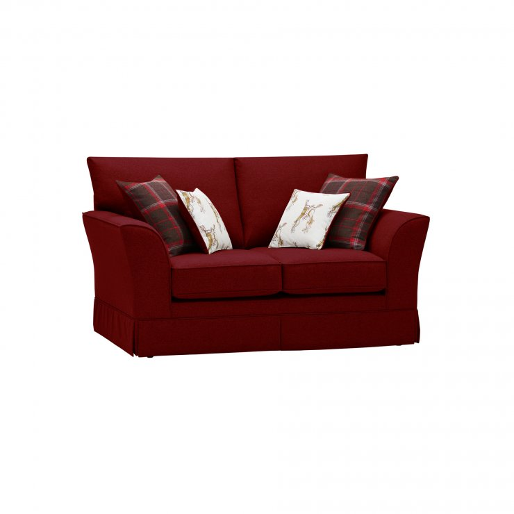 Liberty 2 Seater Sofa - Hawkshead Red Fabric with Brown Scatters