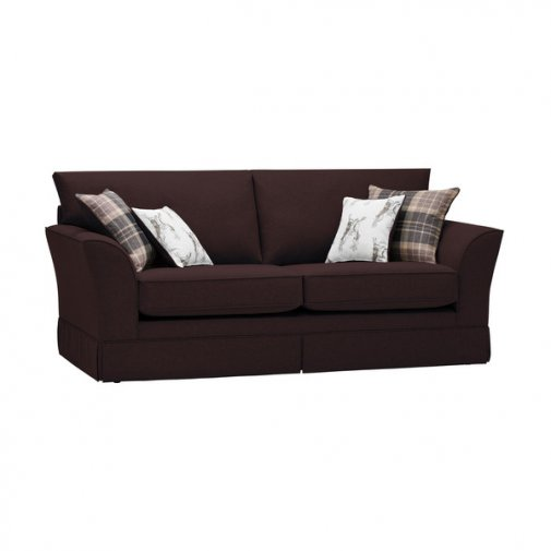 Liberty 3 Seater Sofa - Hawkshead Brown Fabric with Beige Scatters