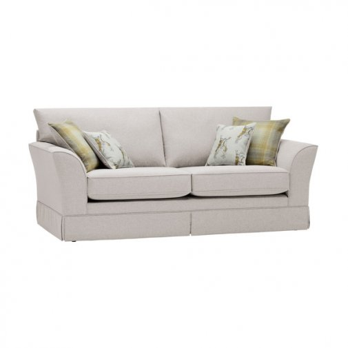 Liberty 3 Seater Sofa - Hawkshead Cream Fabric with Yellow Scatters