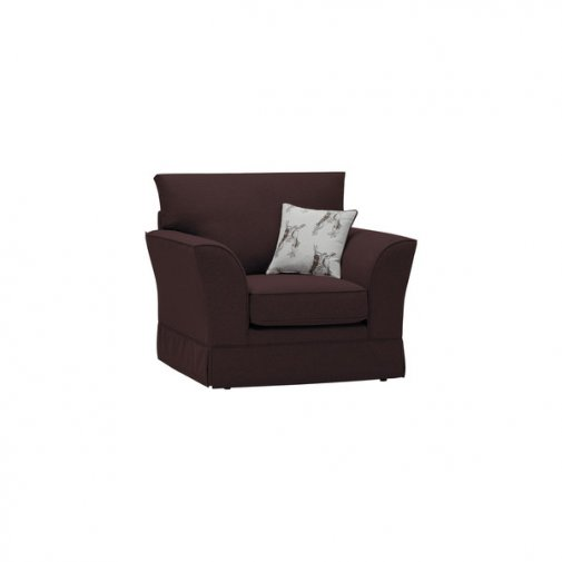 Liberty Armchair - Hawkshead Brown Fabric with Beige Scatter