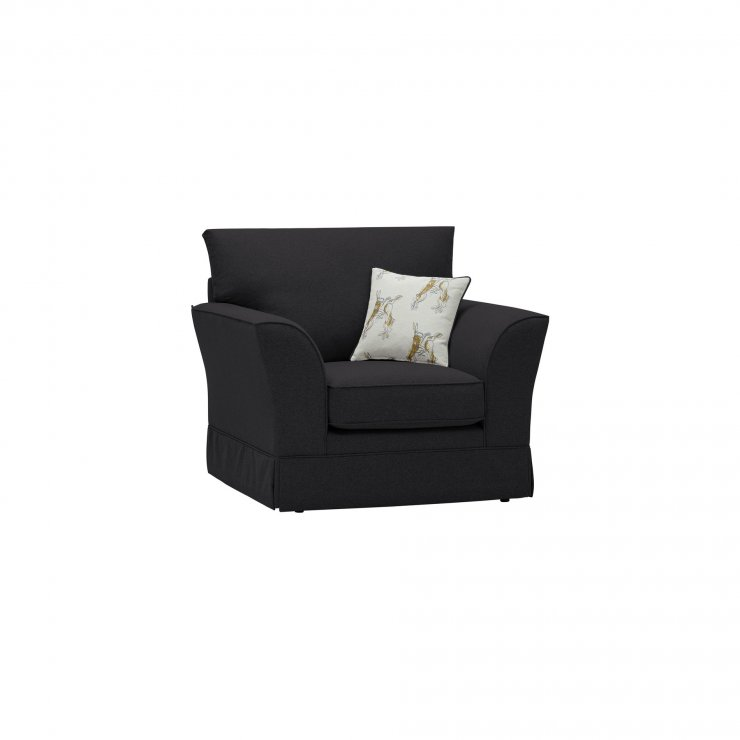 Liberty Armchair - Hawkshead Charcoal Fabric with Yellow Scatter