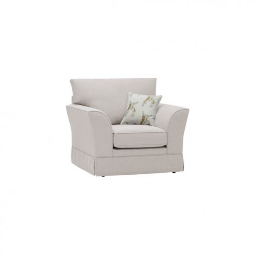 Liberty Armchair - Hawkshead Cream Fabric with Yellow Scatter