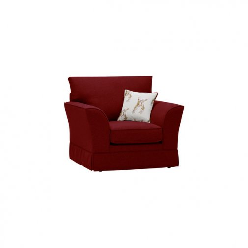 Liberty Armchair - Hawkshead Red Fabric with Brown Scatter