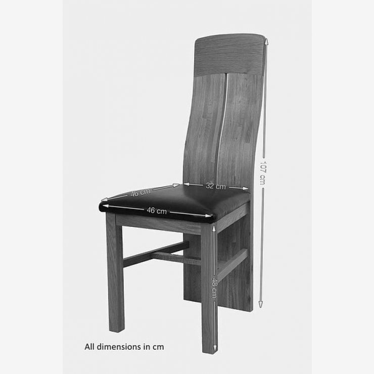 Lily Natural Solid Oak and Brown Leather Dining Chair