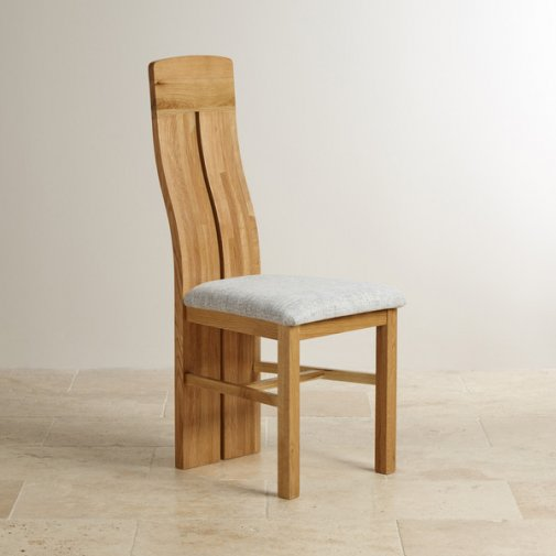 Oak And Fabric Chairs Finance Available Oak Furniture Land