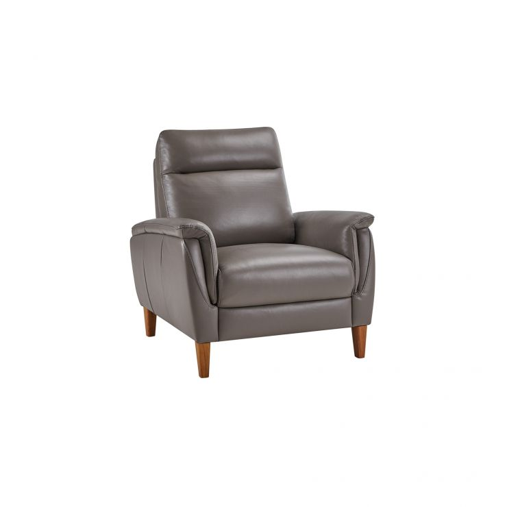 Linden Dark Grey Leather Armchair