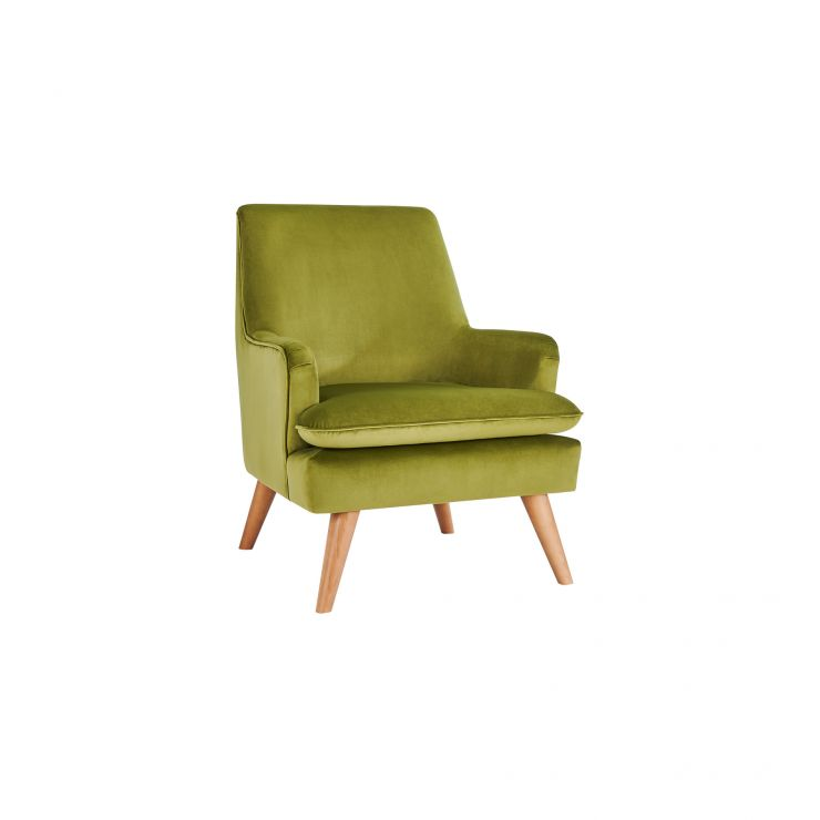 Louis Accent Chair in Olive Velvet