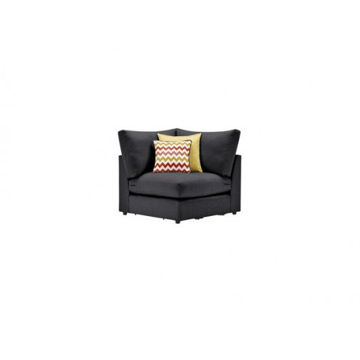 Maddox Corner Module in Delia Charcoal with Red Scatters