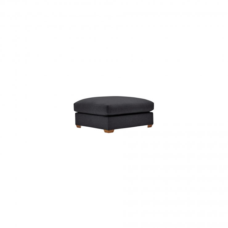 Maddox Footstool in Delia Charcoal  - Image 1