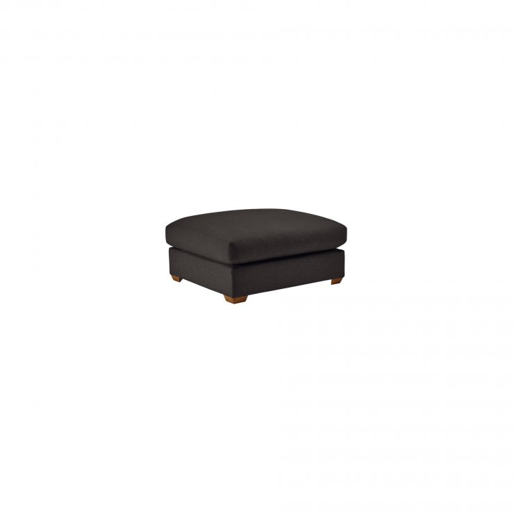 Maddox Footstool in Eleanor Charcoal