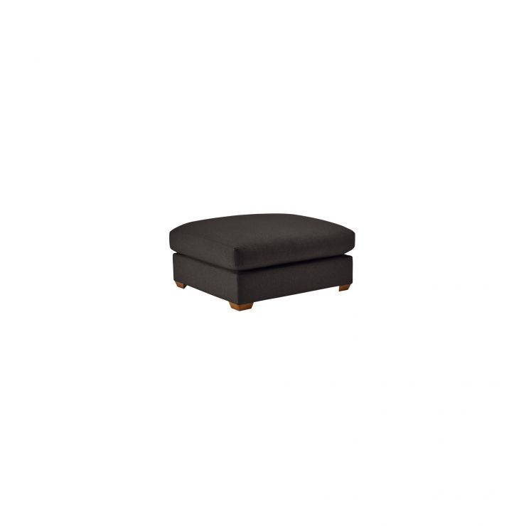 Maddox Footstool in Eleanor Charcoal - Image 1