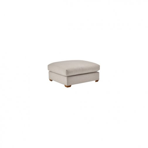 Maddox Footstool in Eleanor Silver