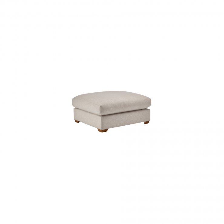 Maddox Footstool in Eleanor Silver - Image 1
