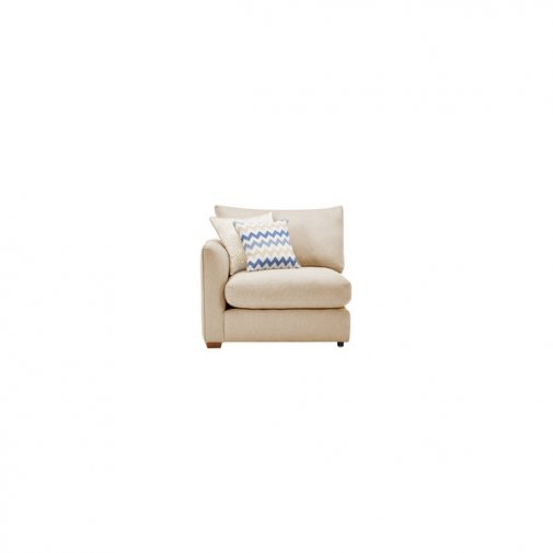 Maddox Left Arm Module in Eleanor Beige with Cream Scatters