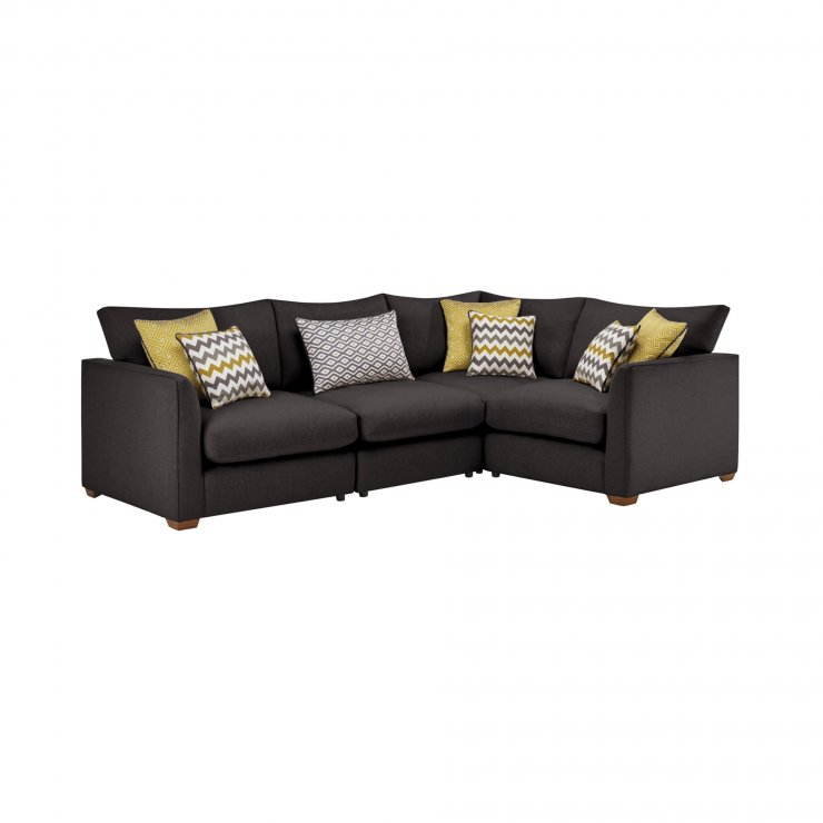Maddox Modular Group 2 in Eleanor Charcoal with Lime Scatters - Image 1