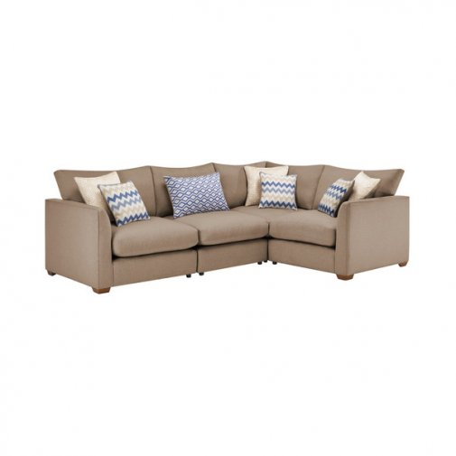 Maddox Modular Group 2 in Eleanor Mink with Cream Scatters