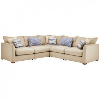 Maddox Modular Group 3 in Eleanor Beige with Cream Scatters