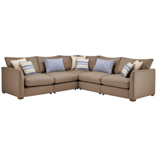 Maddox Modular Group 3 in Eleanor Mink with Cream Scatters