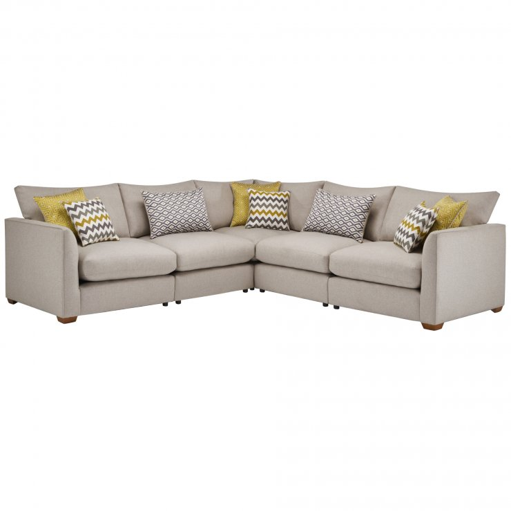 Maddox Modular Group 3 in Eleanor Silver with Lime Scatters - Image 1