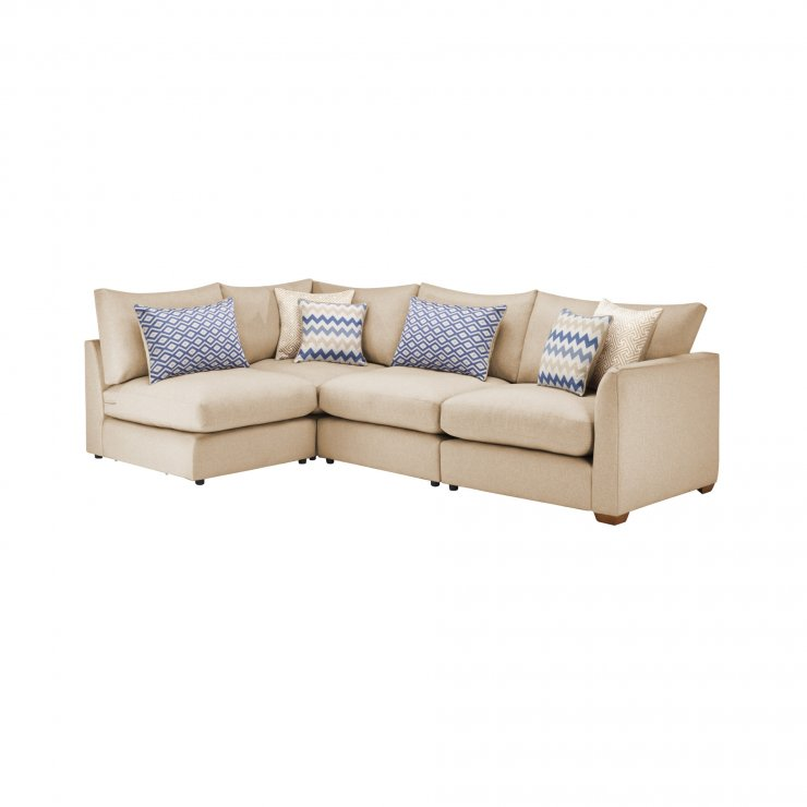 Maddox Modular Group 5 in Eleanor Beige with Cream Scatters