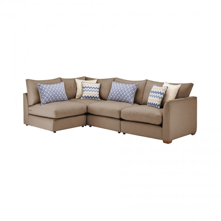 Maddox Modular Group 5 in Eleanor Mink with Cream Scatters - Image 1