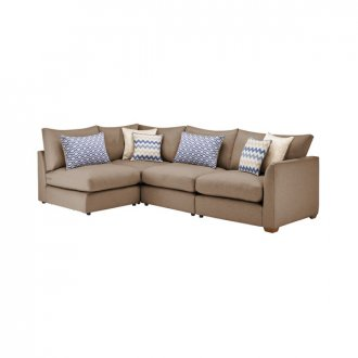 Maddox Modular Group 5 in Eleanor Mink with Cream Scatters
