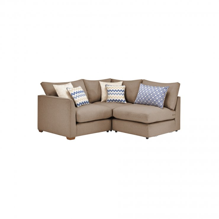 Maddox Modular Group 6 in Eleanor Mink with Cream Scatters