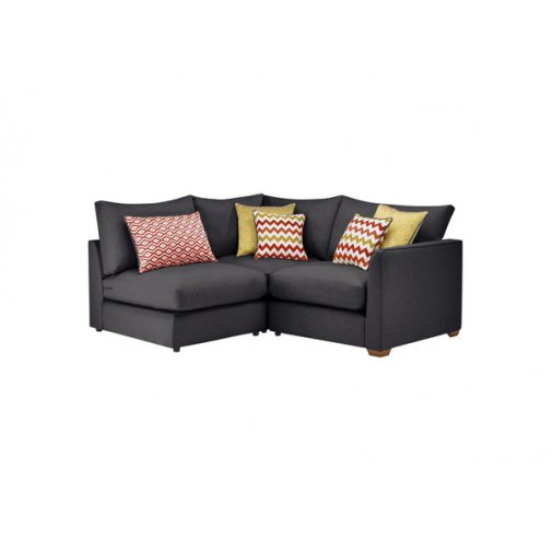 Maddox Modular Group 7 in Delia Charcoal with Red Scatters