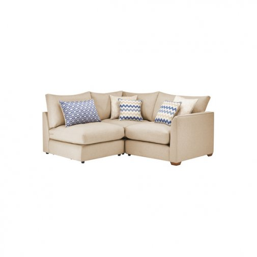 Maddox Modular Group 7 in Eleanor Beige with Cream Scatters