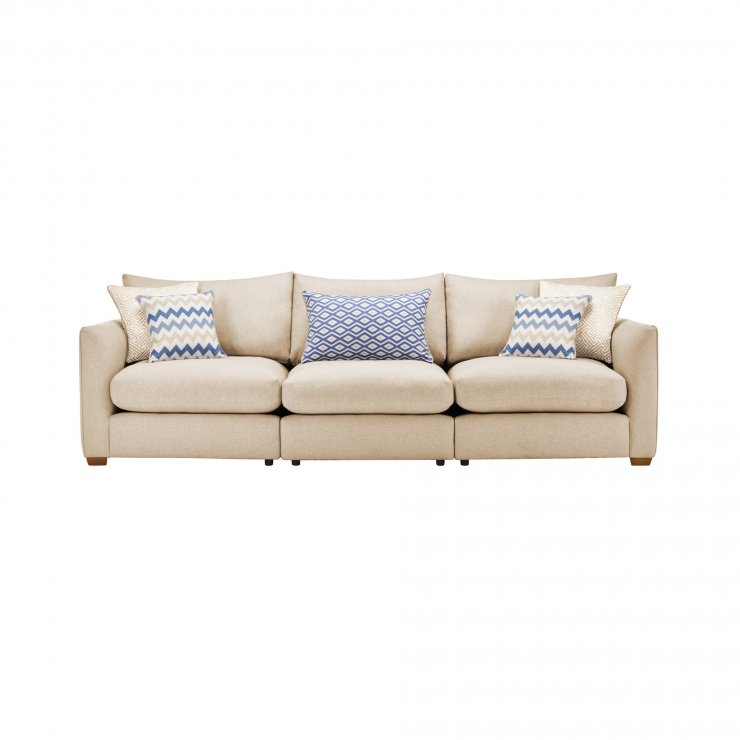 Maddox Modular Group 9 in Eleanor Beige with Cream Scatters