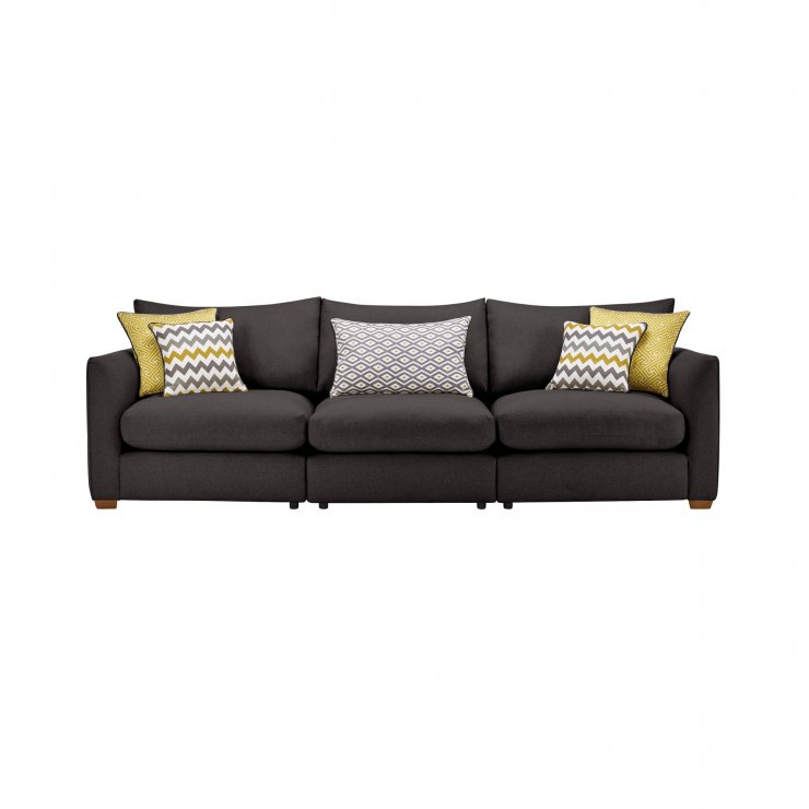 Maddox Modular Group 9 in Eleanor Charcoal with Lime Scatters