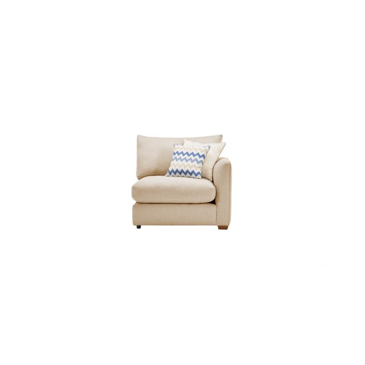 Maddox Right Arm Module in Eleanor Beige with Cream Scatters - Image 1