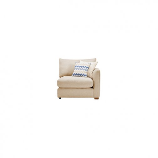 Maddox Right Arm Module in Eleanor Beige with Cream Scatters