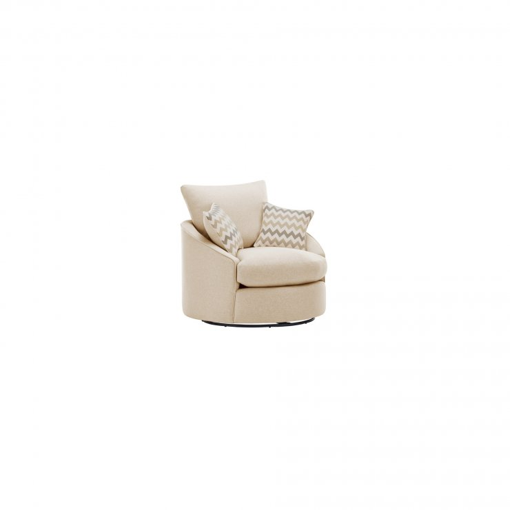 Maddox Twist Chair in Delia Beige with Beige Scatter