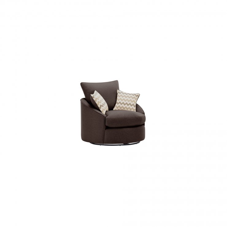 Maddox Twist Chair in Delia Brown with Beige Scatter - Image 2