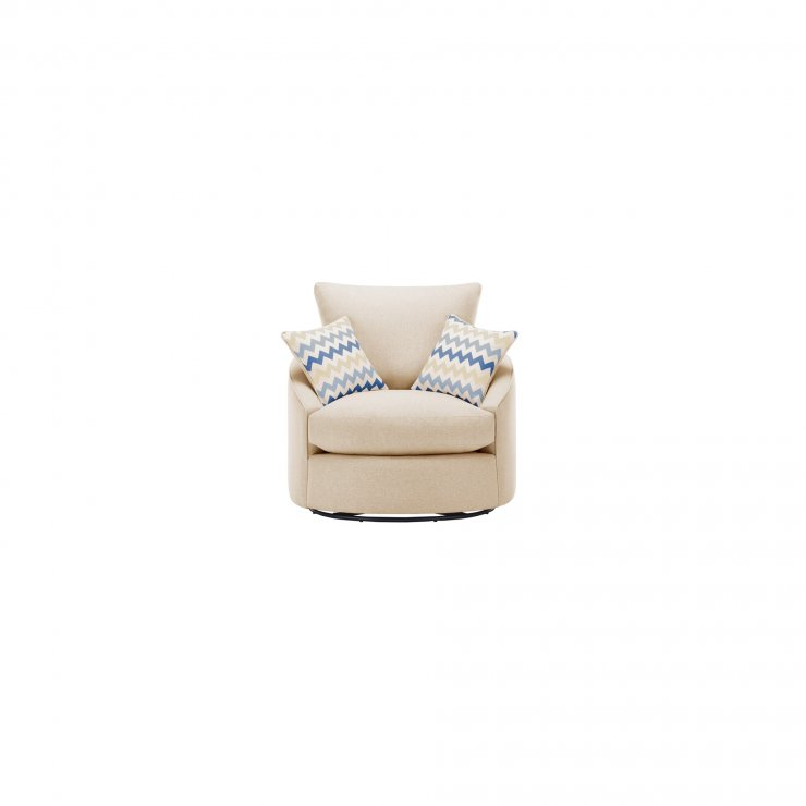 Maddox Twist Chair in Eleanor Beige with Cream Scatters