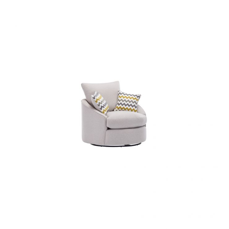 Maddox Twist Chair in Eleanor Silver with Lime Scatters - Image 2