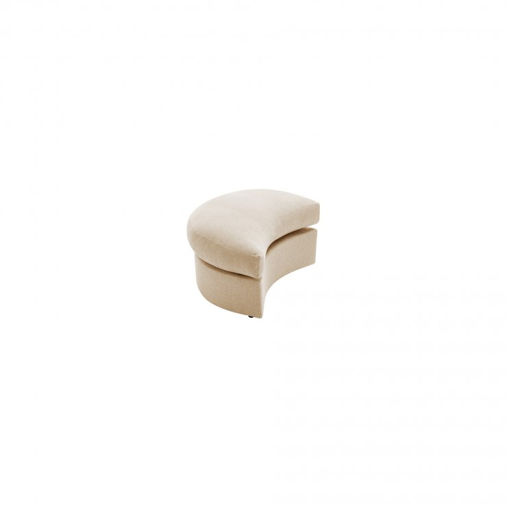 Maddox Twist Footstool in Delia Beige