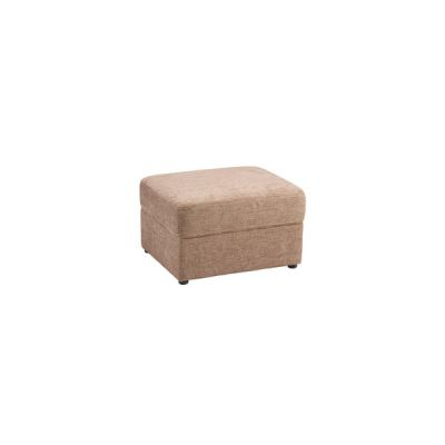 Maison Footstool - Blake Biscuit Fabric