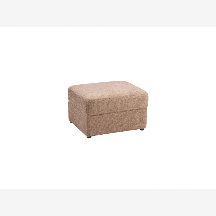 Maison Footstool - Blake Biscuit Fabric - Image 1