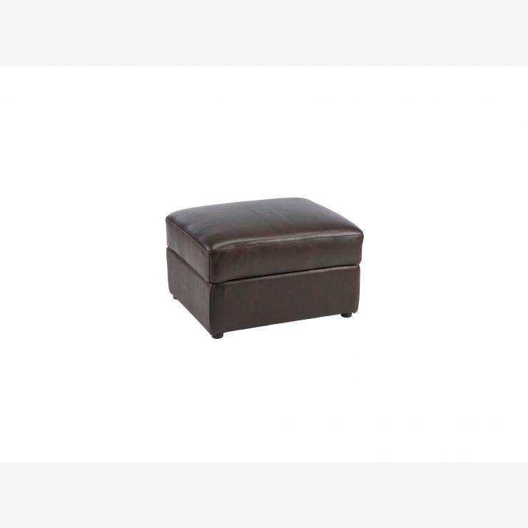 Maison Footstool - Dark Brown Leather