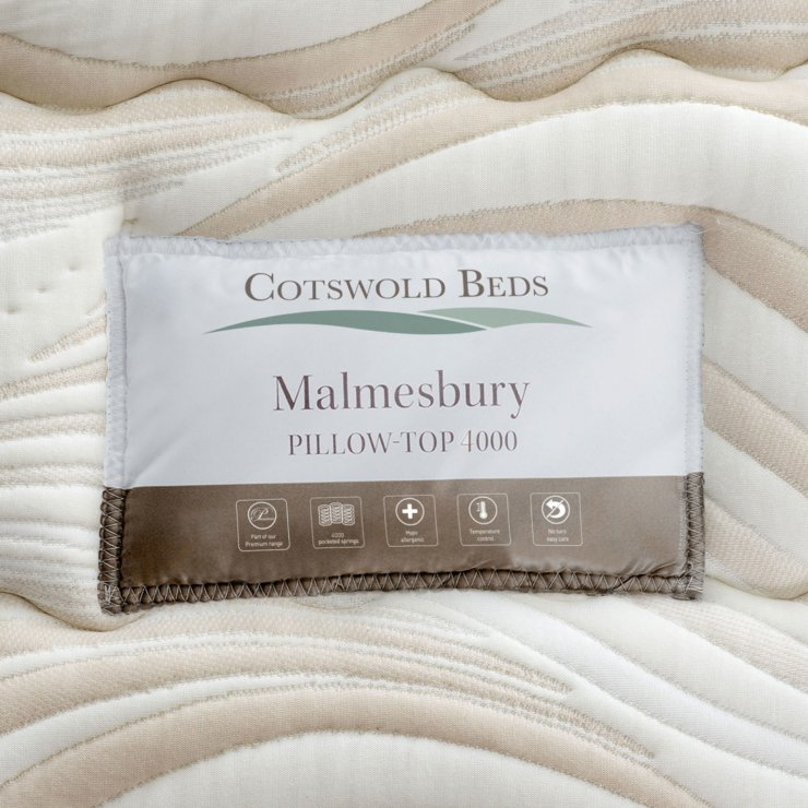 Malmesbury Pillow-top 4000 Pocket Spring Single Mattress