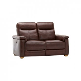 Malmo 2 Seater Sofa with 2 Manual Recliners - 2 Tone Brown Leather