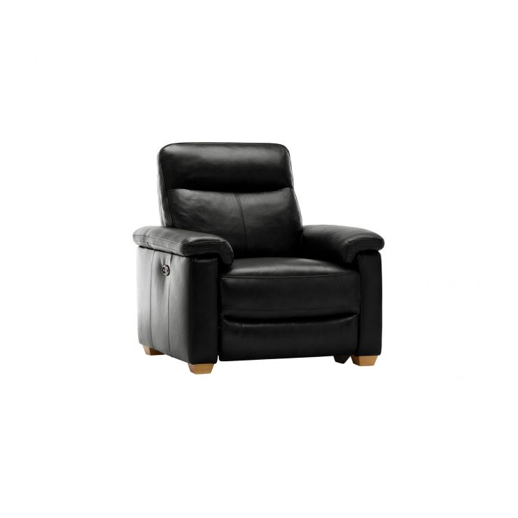 Malmo Armchair with Electric Recliner - Black Leather