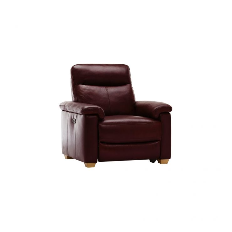 Malmo Armchair with Electric Recliner - Burgundy Leather - Image 11