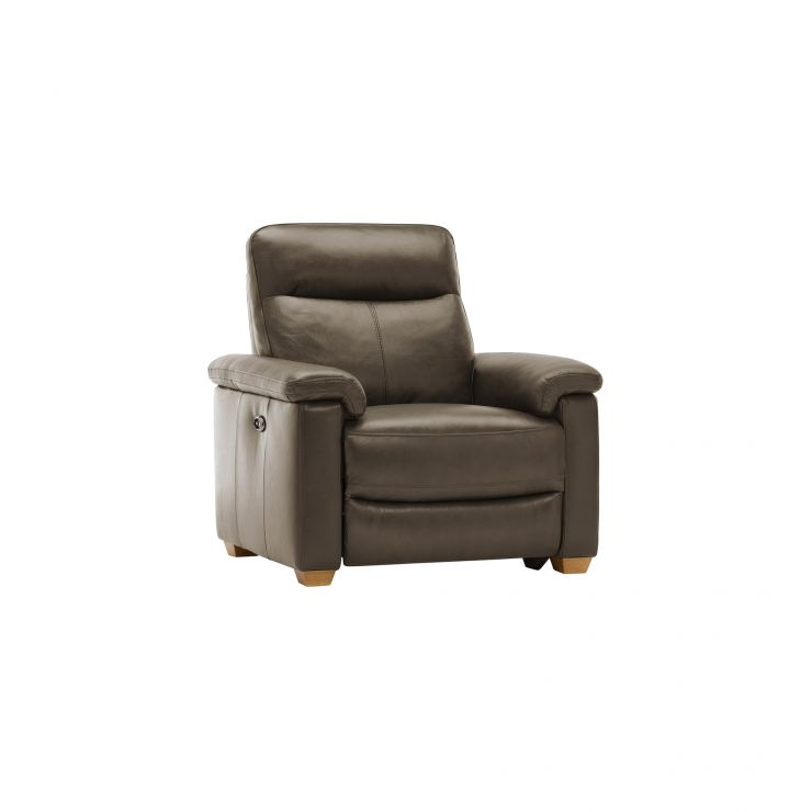 Malmo Armchair with Electric Recliner - Dark Grey Leather - Image 10
