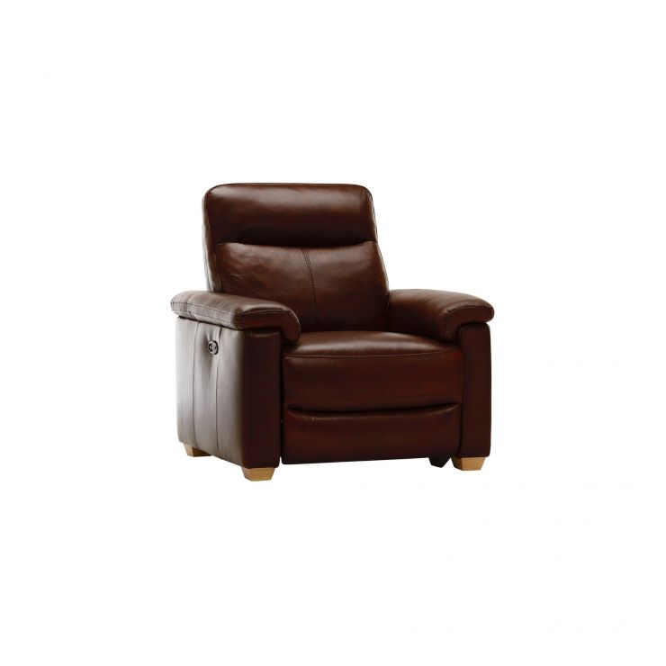Malmo Armchair with Electric Recliner - Tan Leather