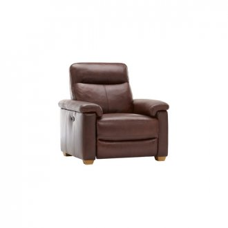 Malmo Armchair with Manual Recliner - 2 Tone Brown Leather