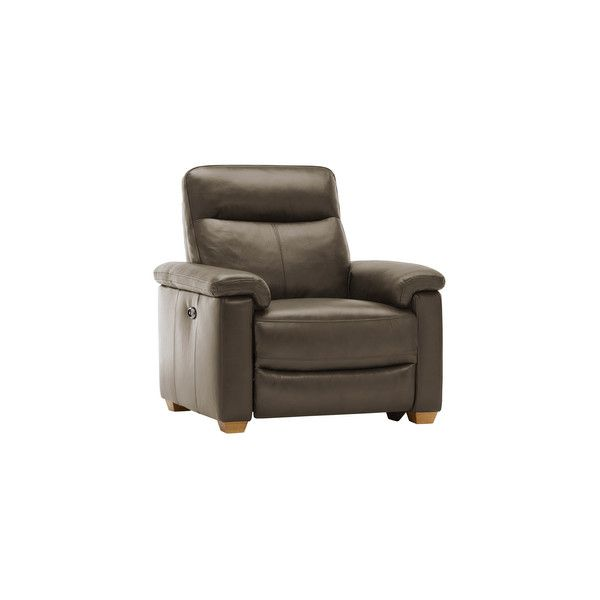 Malmo Armchair with Manual Recliner - Dark Grey Leather